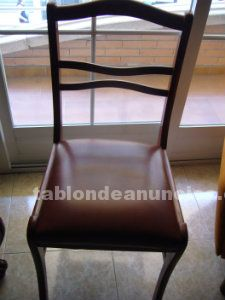 Vendo muebles: sillas, mesa 1,25 diametro extensible, mesa