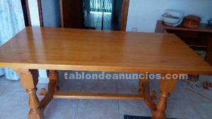 Mesa de salon pino macizo