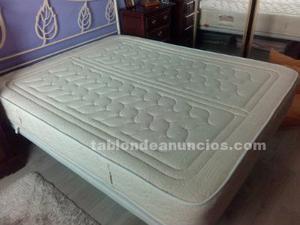 Colchón y somier base tapizada