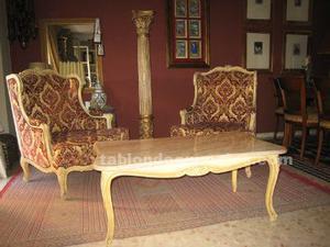Dos sillones y mesita louis xv