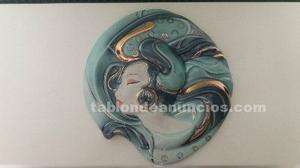 Figura de porcelana galos para colgar