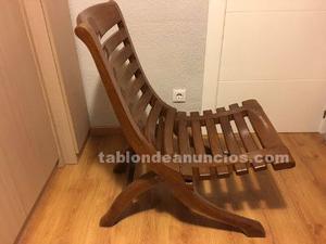 Silla de diseño en madera maciza
