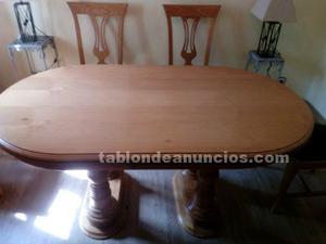 Vendo mesa madera y sillas