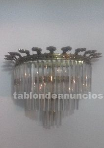 Apliques de bronce y cristal de adorno