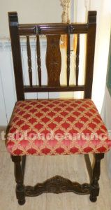 Conjunto de 6 sillas de madera.