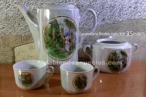 Juego de cafe porcela finales siglo xix