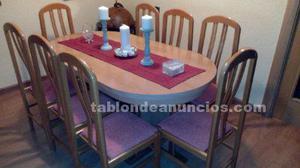 Mesa comedor extensible y 8 sillas: muy nuevas