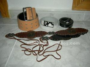 Vendo 4 cinturones de mujer (varios imitan piel)