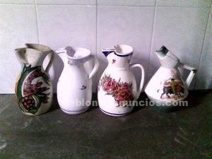 Vendo 6 jarras de ceramica de talavera de la reina con