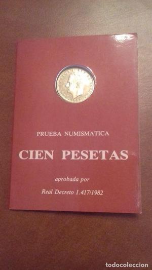 Cartera de Juan Carlos I de 100 pesetas de . Cartera