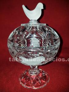Bombonera cristal de bohemia tallado