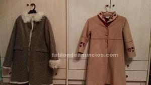 Dos abrigos de niña