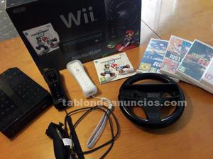 Pack consola wii negra