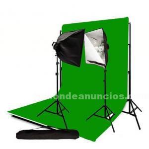 Softbox y fondos para fotografia de estudio