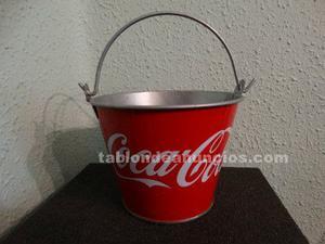 Cubo metálico publicidad coca cola