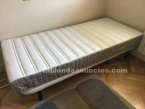 Cama individual con/sin colchón