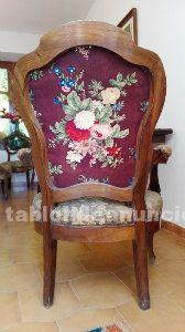 2 sillones y 2 sillas de estilo isabelino (siglo xix)