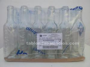 Botella bordelesa cristal, 37.5 cl, pack de 36 unidades