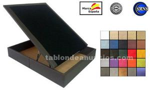 Canapé abatible barato de 90x190 tapizado en poli-piel