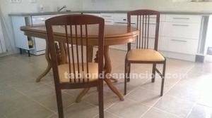 Vendo conjunto mesa comedor y 6 sillas