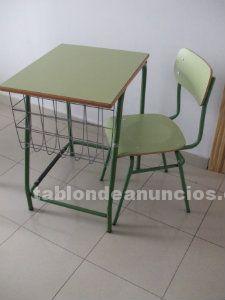 Vendo mesas y sillas tipo escolar