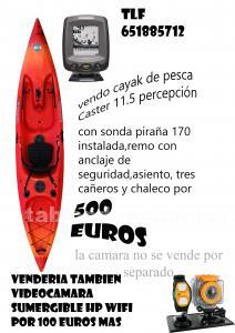 Kayak de pesca caster 11.5 percepción