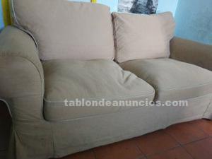 Lote de sofás ektorp ikea de 2 y 3 plazas