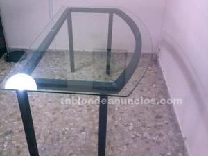 Mesa de cristal para oficina, comedor, salon