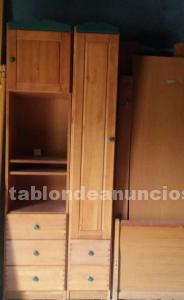 Dormitorio juvenil de pino