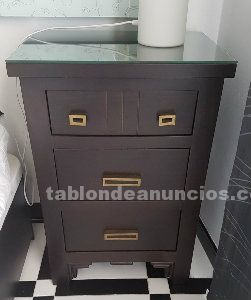 Muebles dormitorio mesillas+comoda+espejo