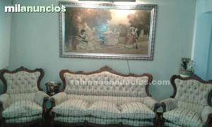 Precioso conjunto de sofá y dos butacas