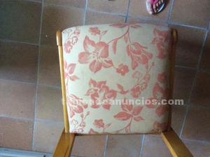 Vendo 5 sillas madera tapizadas