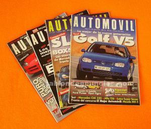 Automóvil. Lote 4 revistas periodo