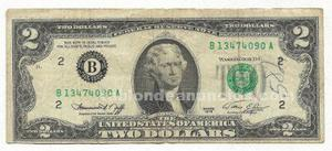 Billete de 2 dolares de