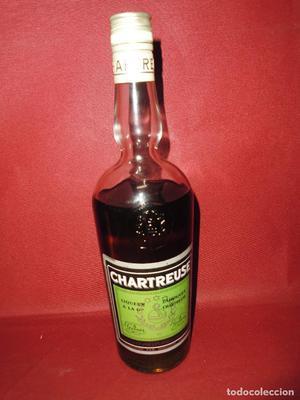 magnifica botella antigua de chartreuse etiqueta verde