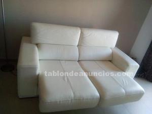 Vendo sofa de piel blanco
