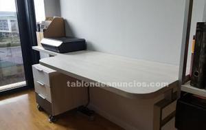 Dormitorio completo cama - escritorio - estantería - silla