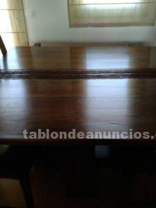 Mesa comedor 1.40 x 1.40 en madera de shisham (india)