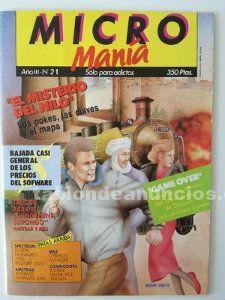 Revista micromanía priméra época. Número 21.