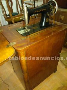 Maquina de coser alfa con manual de instrucciones (vintage)