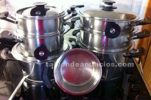 Vendo 2 ollas amc cm tapa r pida amc a coru a posot class - Amc baterias de cocina ...