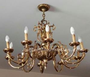 Preciosa lámpara de bronce salón