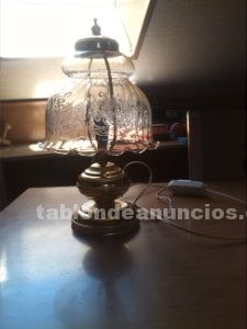 Lámpara de cristal de mesa