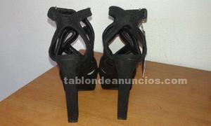 Vendo sandalias con plataformas de zara