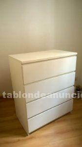Cajonera malm ikea 80x48x100 - color blanco - nueva