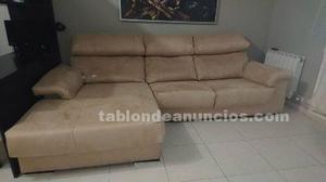Sofá de 2'90m con chaiselong