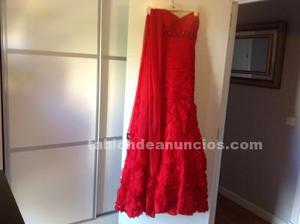 Se vende vestido de fiesta rojo