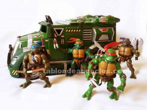 Furgoneta de las tortugas ninja con los personajes incluidos