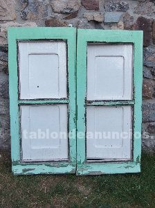 Hojas de ventana y contraventanas antiguas