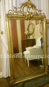 Espejo antiguo pan de oro madrid posot class - Espejos grandes segunda mano ...